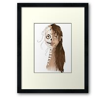 Faded face  Framed Print