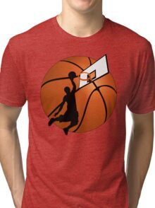 Slam Dunk Basketball Player Tri-blend T-Shirt