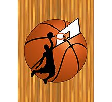 Slam Dunk Basketball Player Photographic Print