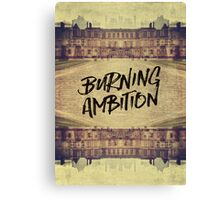 Burning Ambition Fontainebleau Chateau France Architecture Canvas Print