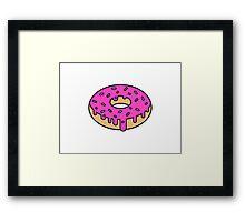 Sticky Icky Donut Framed Print