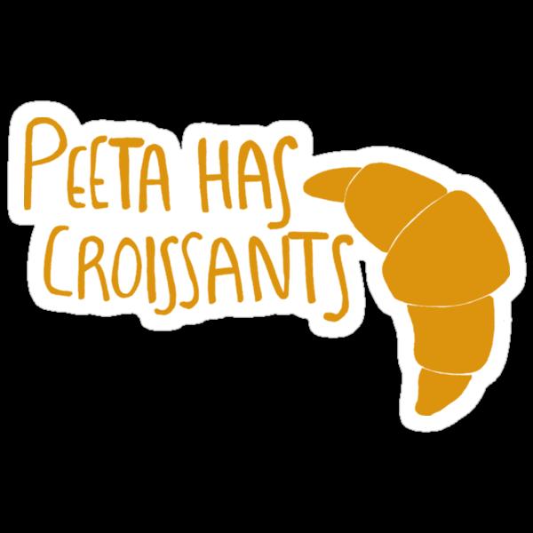 Peeta Has Croissants - Yellow by 4everYA