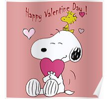 Snoopy Valentine Day Poster