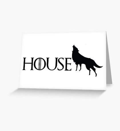 Game of Thrones - Stark Greeting Card