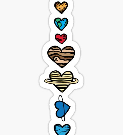 Lovely Coloured Planets Sticker