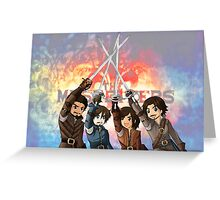 The Musketeers -For Honor!!- Greeting Card
