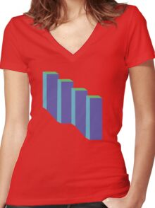 City Blocks Women's Fitted V-Neck T-Shirt