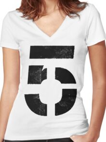 We Are onto #5 Women's Fitted V-Neck T-Shirt