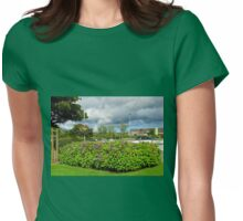 Summer Storm gathering over Stornoway Womens Fitted T-Shirt