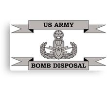 EOD Master Army Bomb Disposal Canvas Print