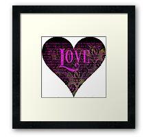 Pride and Prejudice Valentine Framed Print