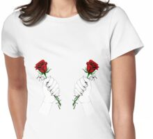 Barbed Wire Roses  Womens Fitted T-Shirt