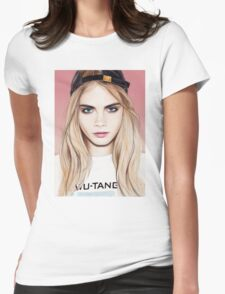 Cara Delevingne pencil portrait fanart Womens Fitted T-Shirt