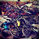 broken bicycles by Claudio Pepper