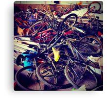 broken bicycles Canvas Print