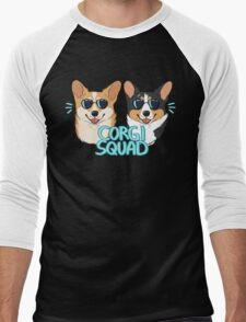 CORGI SQUAD - (The Doctor and the Queen) Men's Baseball ¾ T-Shirt