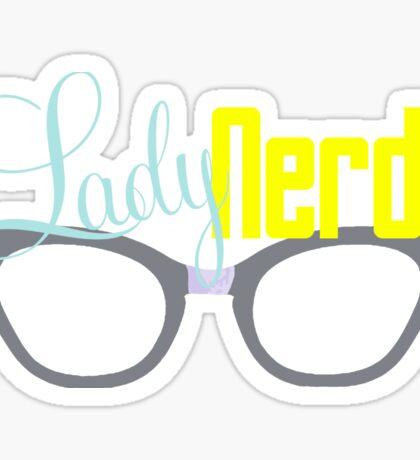 Proud LadyNerd (Grey Glasses) Sticker