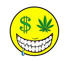 Smiley face get money Photographic Print