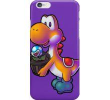 Orange Yoshi with Potted Piranha Plant iPhone Case/Skin