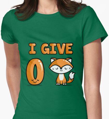 Zero Fox Womens Fitted T-Shirt