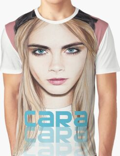 Cara Delevingne pencil portrait 2 Graphic T-Shirt