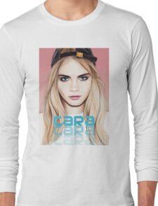 Cara Delevingne pencil portrait 2 Long Sleeve T-Shirt