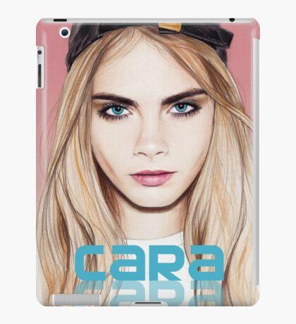 Cara Delevingne pencil portrait 2 iPad Case/Skin