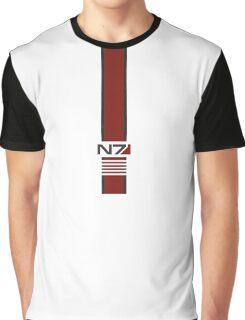 White N7 Stripe Graphic T-Shirt