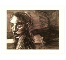 Girl With Broken Chain Art Print