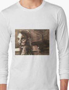 Girl With Broken Chain Long Sleeve T-Shirt