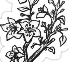 Cherry Blossoms Black & White  Sticker