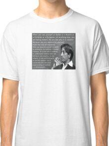 J. Krishnamurti Quote on Violence Classic T-Shirt