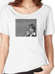 J. Krishnamurti Quote on Violence Women's Relaxed Fit T-Shirt