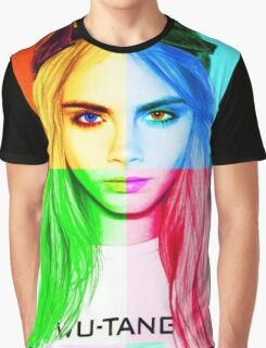 Cara Delevingne pencil portrait 3 Graphic T-Shirt