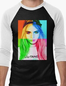 Cara Delevingne pencil portrait 3 Men's Baseball ¾ T-Shirt