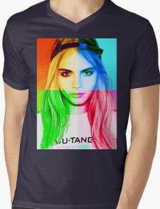 Cara Delevingne pencil portrait 3 Mens V-Neck T-Shirt
