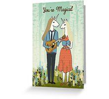 You're Magical Cute Unicorns valentines love card Greeting Card