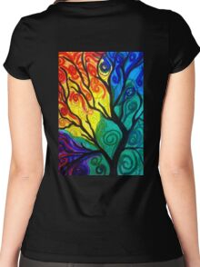 Colorful Tree Women's Fitted Scoop T-Shirt