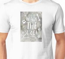 walk the dog day bokeh Unisex T-Shirt