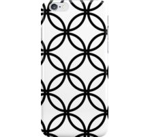 Circles black and white iPhone Case/Skin