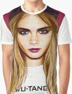 Cara Delevingne pencil portrait 4 Graphic T-Shirt