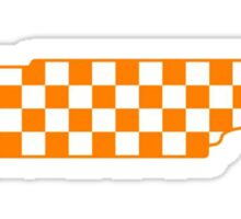 Checkered Tennessee State Outline Sticker