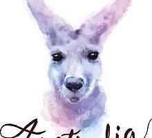 Australian Kangaroo by Donna Rondeau