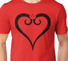 Kingdom Hearts Logo (Black) Unisex T-Shirt