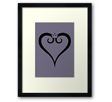 Kingdom Hearts Logo (Black) Framed Print