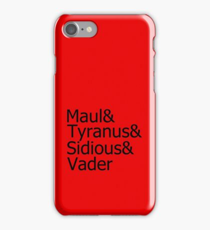 Darth & Darth & Darth & Darth iPhone Case/Skin