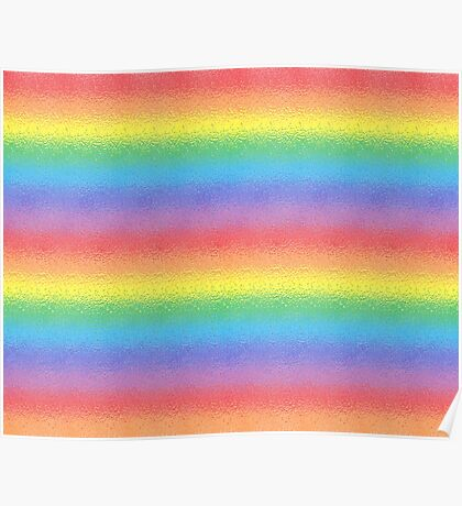 Frosted Rainbow   Poster