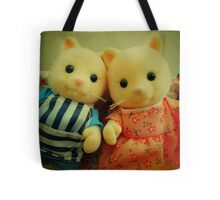 Sylvanian Families ~ Cat Couple Selfie Tote Bag