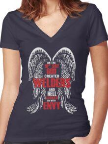 welder Women's Fitted V-Neck T-Shirt