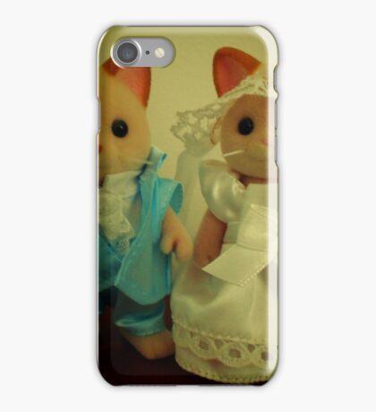 Sylvanian Families ~ Cat Wedding Bride and Groom iPhone Case/Skin